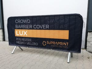 airtex crowd barrier jacket printing