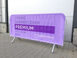 poly mesh crowd barrier jacket printing