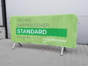vinyl mesh crowd barrier jacket printing