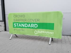 vinyl mesh crowd barrier jacket printing