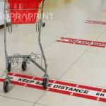Keep safe 2m distance floor decals