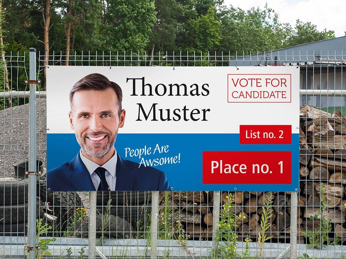 election cheap vinyl banner printed