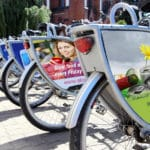 advertising on bicycle-correx signs