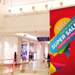 double-sided banner for mall