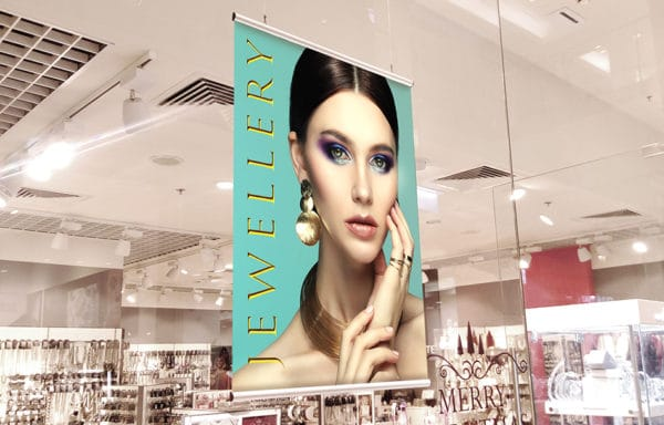 double sided poster for shopping mall