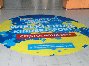 large format floor sticker for sport event