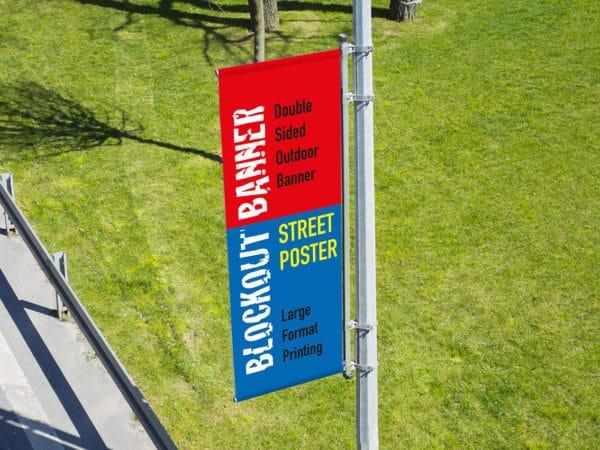 post lamp street banner printing