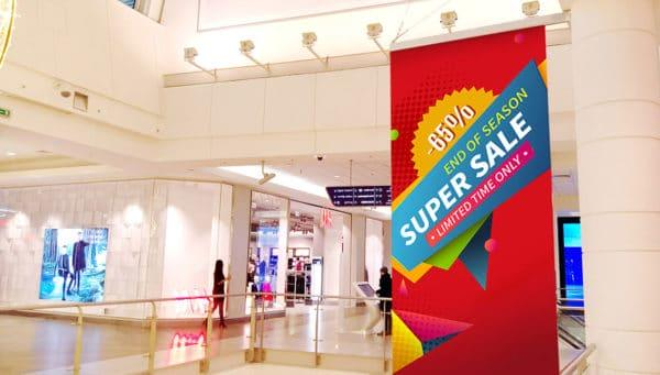doublesided banner for mall
