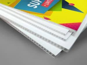 polypropylene fluted sheet printed