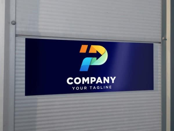 Alu-Dibond with Company Logo